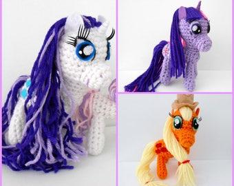 CLEARANCE! Your Choice! My Little Pony Amigurumi Plush