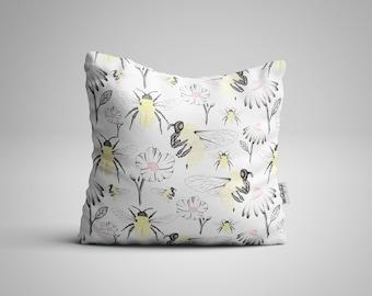 Bee Cushion, Foral and Bee Cushion, Pattern Cushion