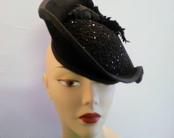 40's Style Tilt Hat