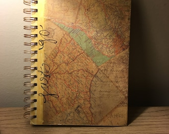 Gold Quote Map Journal