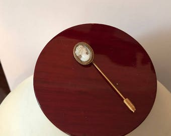 Antique Cameo Stick Pin