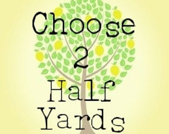 Choose Your Own 2:  Half Yard Bundle.