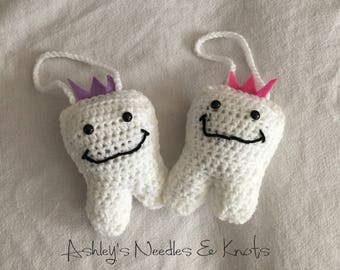 Tooth Fairy pillows, crochet tooth fairy pillow, money holder, lost tooth holder