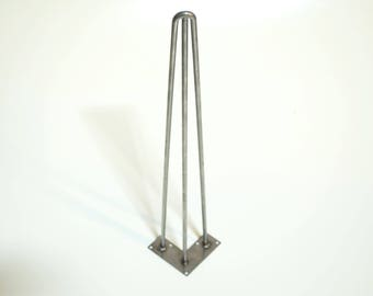 Three Rod Hairpin Furniture Legs - All Sizes - Desk, Dining Table -Screws Included