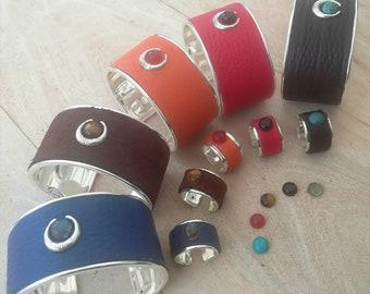 Bracelet Lune enfant bracelet cuir/métal