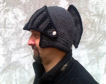 knight helmet,crochet pattern, hat pattern, crochet hat, hat for men, pdf download pattern, helmet pattern, bike hat pattern