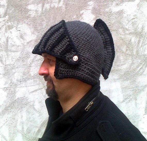 Knight Helmetcrochet Pattern Hat Pattern Crochet Hat Hat