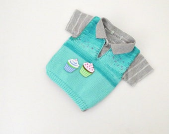 Baby girl vest, Baby shower clothes, Baby shower gift , Kids knitwear, Toddler boy knits, Winter baby vest, Baby knitted vest, Infant vest