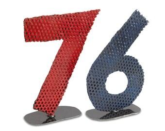 Custom Tabletop or Desktop Metal Numbers