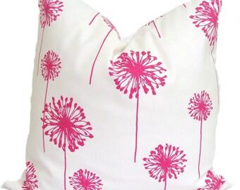 Pink Pillows.Pink Decorative Pillow, Pink Floral Pillow, Pink Pillows, Pink Accent Pillow, 18x18, 16x16, 22x22, 26x26 and More-Pink Cushion
