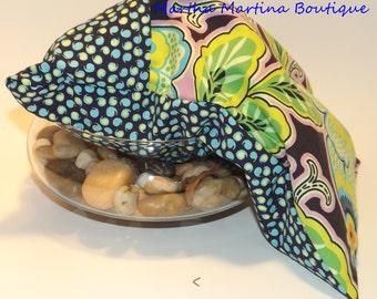 Ahhh-Maize-ing Corn Comfort Sak Multi Size Wrap 'Retro Blooms', Blue, Pink, Green, Retro, Microwave Corn Bag