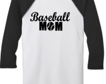 Baseball Tee's - Baseball Mama / Baseball Mom  Perfect for all those Baseball Moms!  Mother's Day Gift!