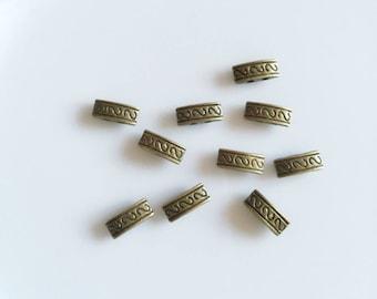 antique bronze metal spacer beads