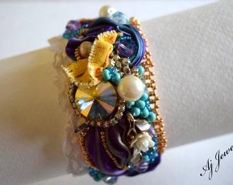 Shibori Silk Bracelet Measure of Time