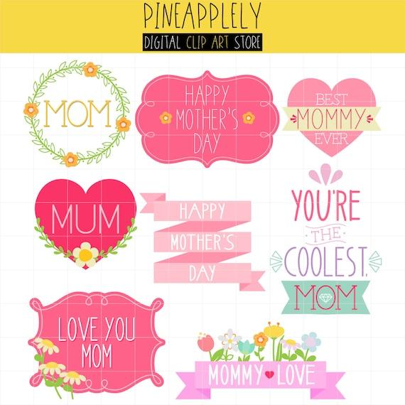 Día de la madre de tipografía Lettering marcos para tarjetas