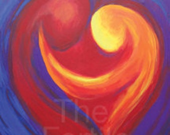Fertility Art Print - My Heart, My Love - Inspiring and Positive, Mother's Day Sale
