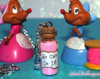 Cinderella Necklace, We Can Do It Magical Bottle Necklace Mice Charms, Cinderella Song, Disney Jewelry, Disney Bound, Cinderella Cosplay
