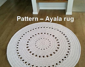 Pattern for Ayala rug, T-shirt yarn rug