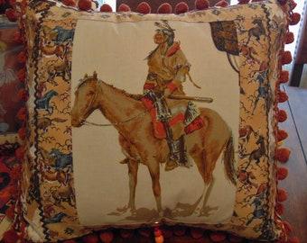 Horse Pillow Collectible Southwest American Native Indian Art Pillow