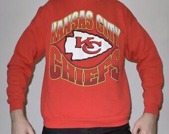 Vintage 1990s NFL Kansas City CHIEFS Hanes Activewear Sweatshirt XL