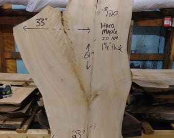 Hard Maple Crotch Slab #104
