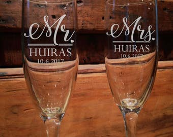 Personalized Champagne flutes, Champagne Flutes, Champagne, Wedding Champagne Flutes, Hawaii, Toasting glasses, wedding toasting glasses,