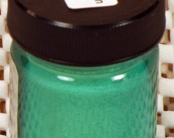 Inlace Inlay Metallic Dyes 1 Ounce Glass Jar Green