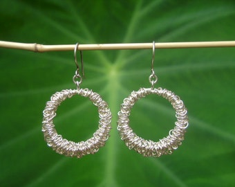 Silver Earrings - The Wrapped Earrings (4)