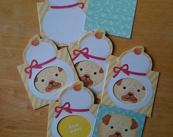Cute Dog card set from Japan