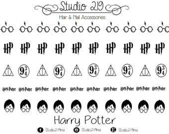 Harry Potter Waterslide Nail Decals