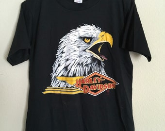Vintage 1980's Harley Davidson eagle shirt