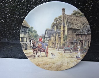 Wedgwood Bone China Collectors Plate/Stanton by JL Chapman from The charm of an English Country Village Collection/Wall Decor/Vintage/1980s