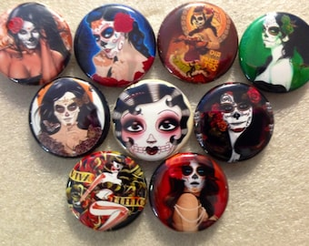 Day of the Dead  buttons, crafts, bottlecaps, scrapbooking