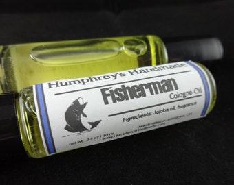 FISHERMAN Men's Cologne Oil, Roll On Cologne, Anise Fragrance Oil, Anise Scented Cologne, Moisturizing Jojoba Oil