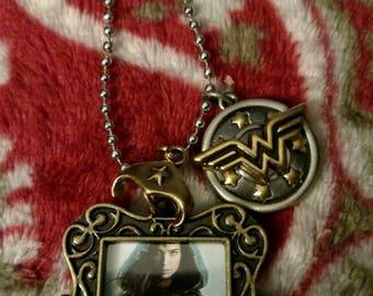 Wonder Woman 2 sided locket necklace