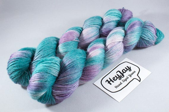 Hand Dyed Alpaca/Merino/Nylon Sock Yarn - Pacific Dawn