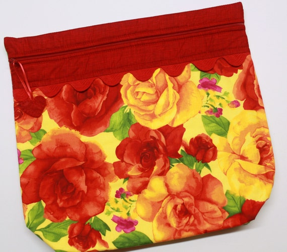 MORE2LUV Giant Roses Cross Stitch Project Bag
