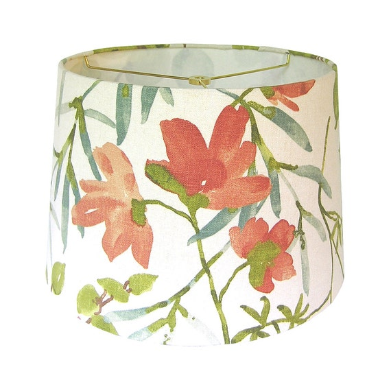 Custom lamp shade floral lampshade fabric lamp shade like this item mozeypictures Gallery