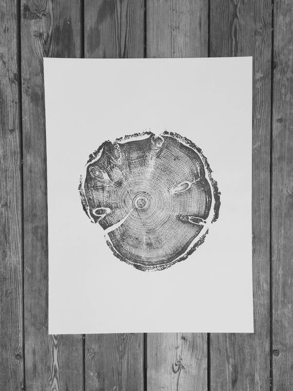 Wood grain print, nature inspired art, tree stump art, woodcut print, Father's Day gifts, Best Dad gifts, mom gifts, dad art gift