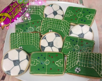 Soccer theme cookies (12qty)