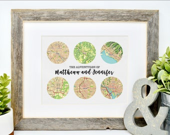 Military Retirement Gift Personalized Map for Military Families Gift for Military Family Army Wife Relocating Gift Moving Gift World Map