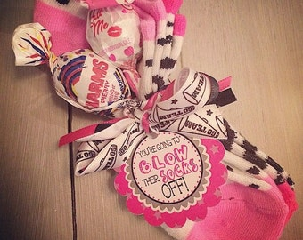 Cheerleading Good Luck Favor Tags- PDF file Instant Download Blow Their Socks Off