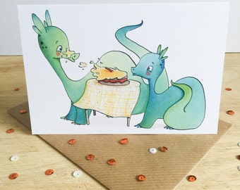 Water Dragon birthday - greeting card for birthdays and celebrations