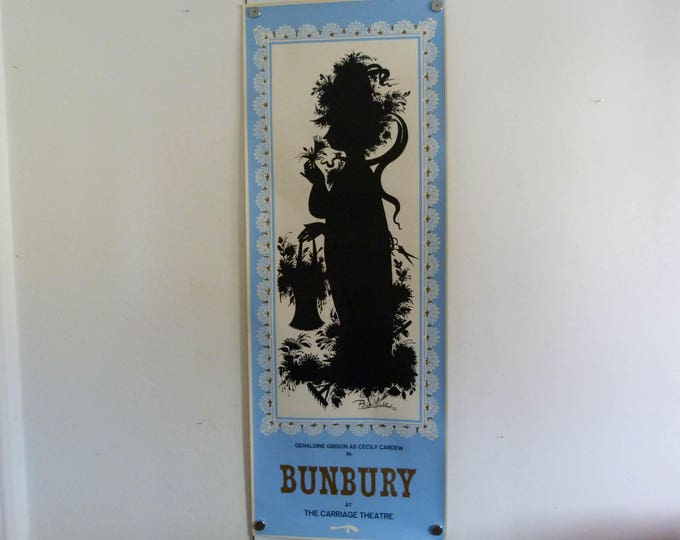 Bjorn Wiinblad screen print poster Bunbury 1963 170cm x 62.5cm long