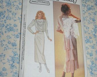 Simplicity 8224 Jessica MCcLintock Misses Dress Sewing Pattern - UNCUT - Size 14