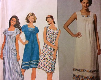 Dress Sewing Pattern Simplicity 8769 Misses' Dresses Bust 36-40 inches Uncut Complete