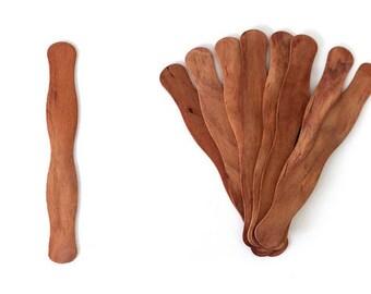 125 Cherry Fan Handle| Fan Handles| Wedding| Wedding Fan| Fan | Fan Sticks| Vintage| Wavy Fan Handle| Wood | Wedding Fan Stick| Handle