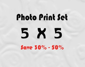 5x5 Prints for IKEA Ribba, Set of 5x5 Prints, 5x5 Photo Set, Save up to 50%