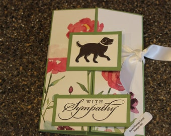 Stampin Up Homemade Greeting Card Dog With Sympathy Card 7139