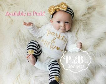 Baby girl outfit with newborn headband & newborn leg warmers Baby girl clothes Baby girl headband, Newborn Girl outfit, Hospital outfit Girl